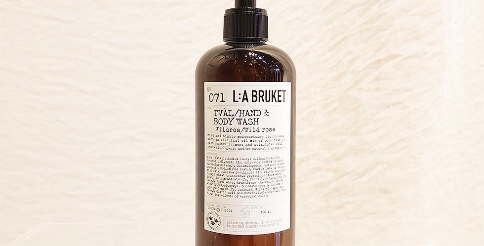 LA:BRUKET hand&body wash  071 ワイルドローズ 450ml