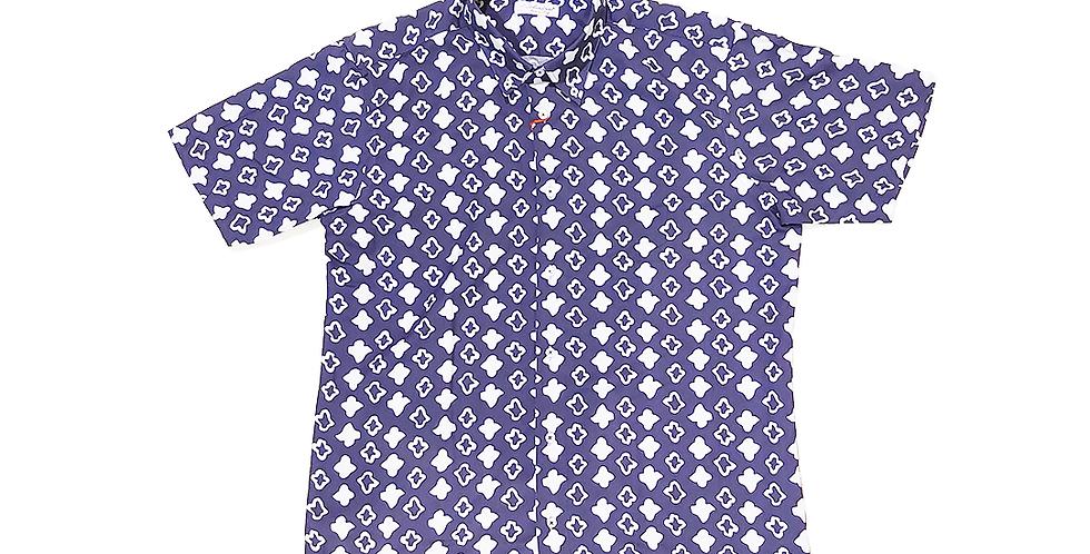 solandrino  monogram button down shirt