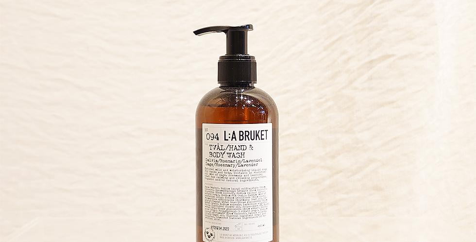LA:BRUKET hand&body wash  094 セージ/ローズマリー/ラベンダー 250ml