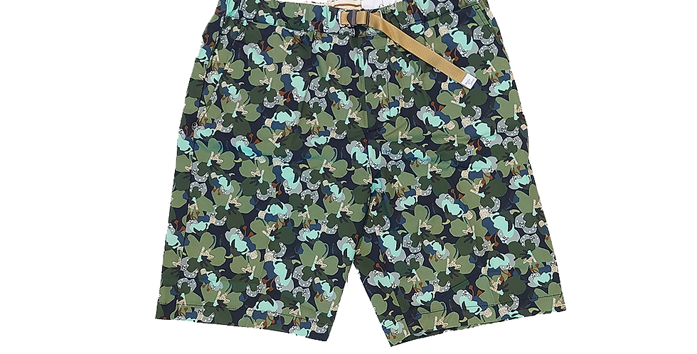 WHITESAND   frower camo shorts