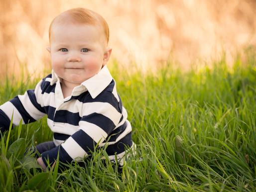 6 month baby portraits, Sacramento CA
