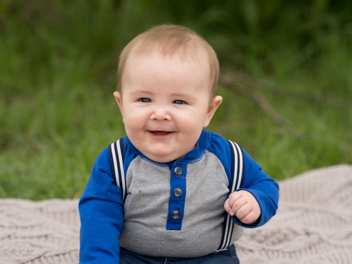 Sweet baby 6 month portraits