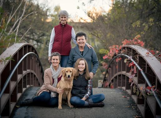 Fall Colors for Family Portraits, Davis CA