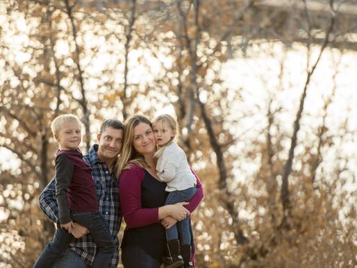 Fall family portraits in Lake Tahoe