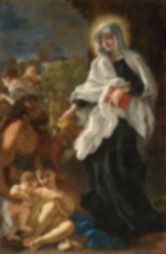 Baciccio-Saint_Francesca_Romana_Giving_A