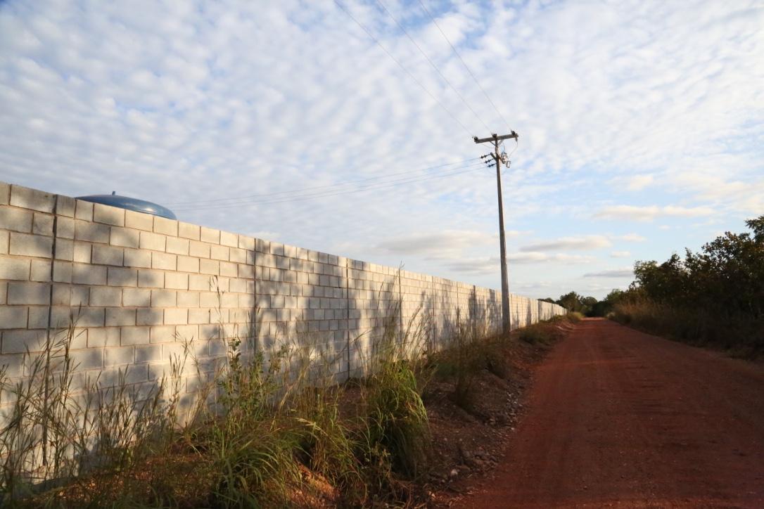 Muro terminado.