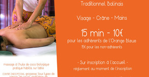 Massages découverte dans votre salle de remise en forme l'Orange Bleue (Trélissac)