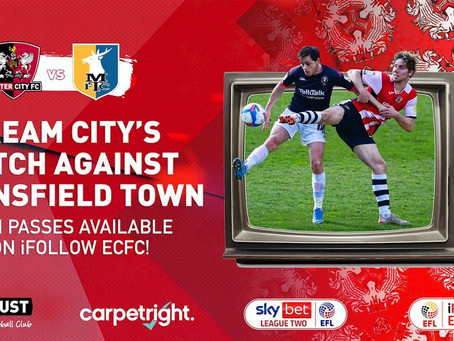 Stream Monday's match against Mansfield Town Live