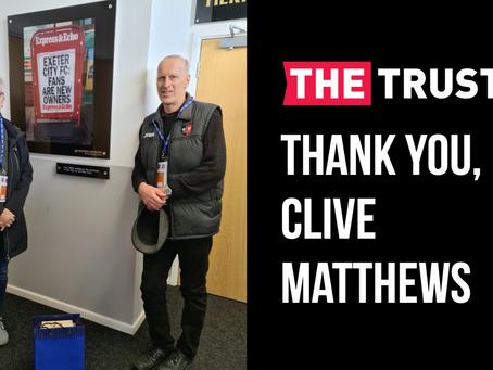 Thank you, Clive Matthews