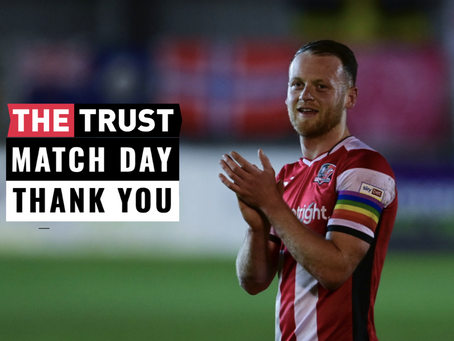 Match Day Thank You