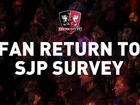 Fan Return to St James Park Survey