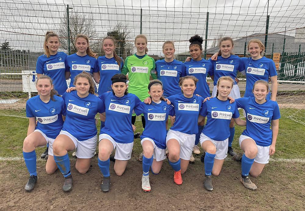 Herts U16 girls v Notts