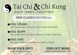 Flyer for Tai Chi classes