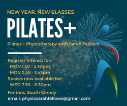 Flyer for Pilates Classes