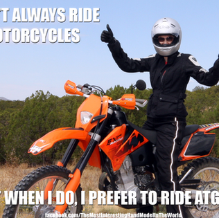 Riding dirtbikes in New Mexico. ATGATT = All The Gear All The Time!