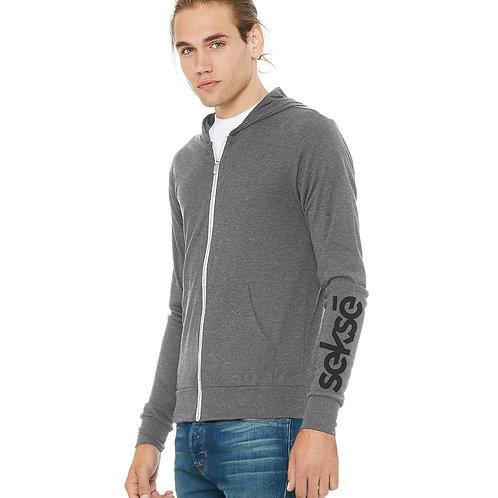 Lightweight Zip Hoodie - Grey