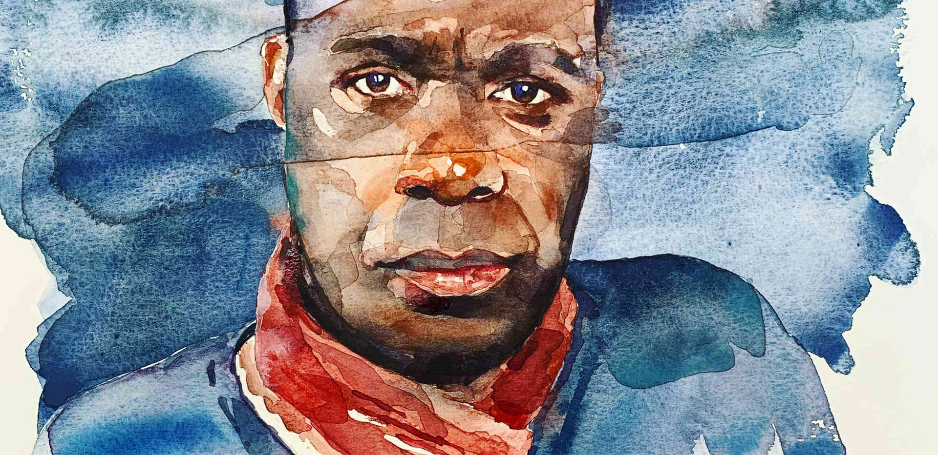 'Clive Myrie' Sky Portrait Artist of the Week #mypaotw
