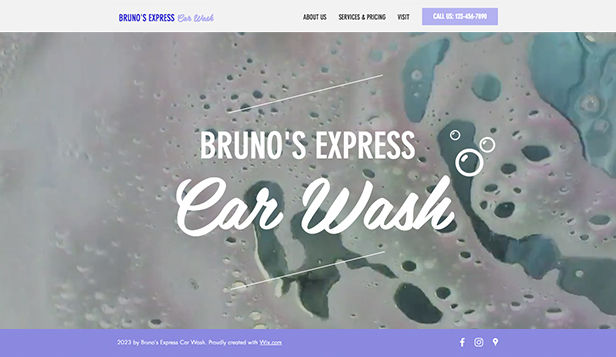 Autos y Transportes website templates – Car Wash Service