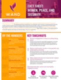 WAND Women Peace and Security Fact Sheet