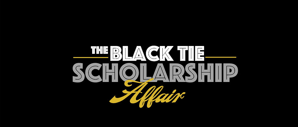 Ladies-Black Tie Scholarship Affair T-Shirt (Fitted, V-Neck)
