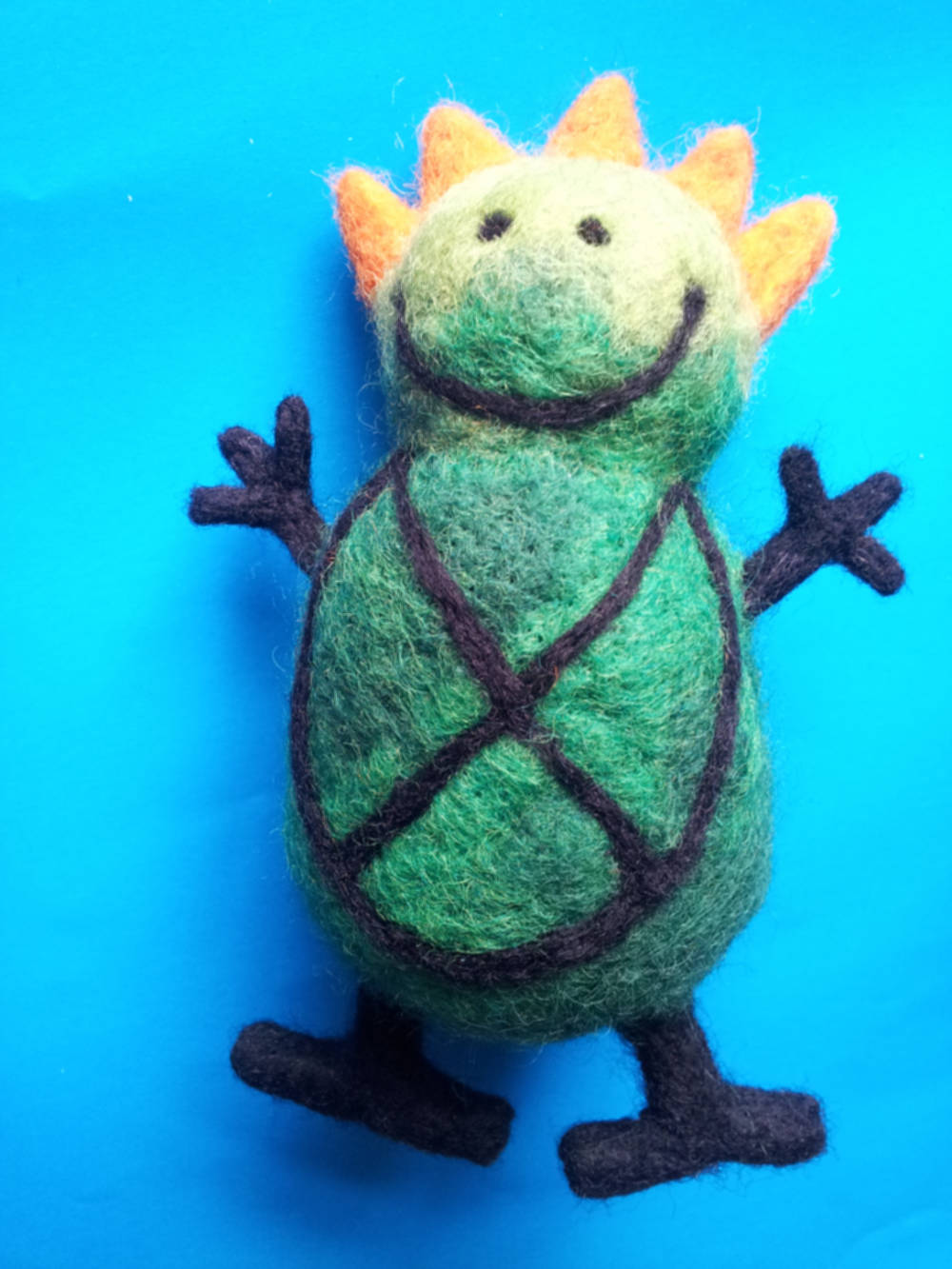 Needle felt kid's drawing made 3D