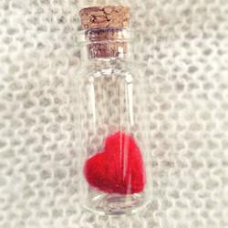 Heart in Glass Bottle