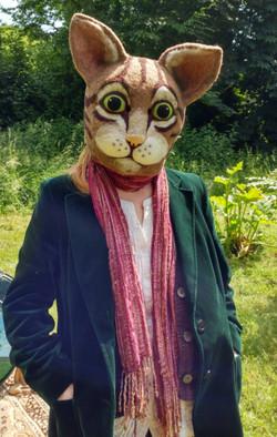 ful head cat mask wool apulina