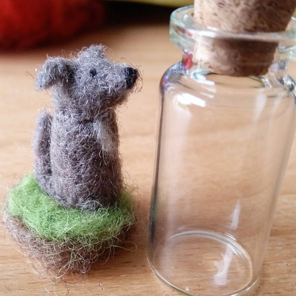 Mini Pet Portrait in Glass Bottle
