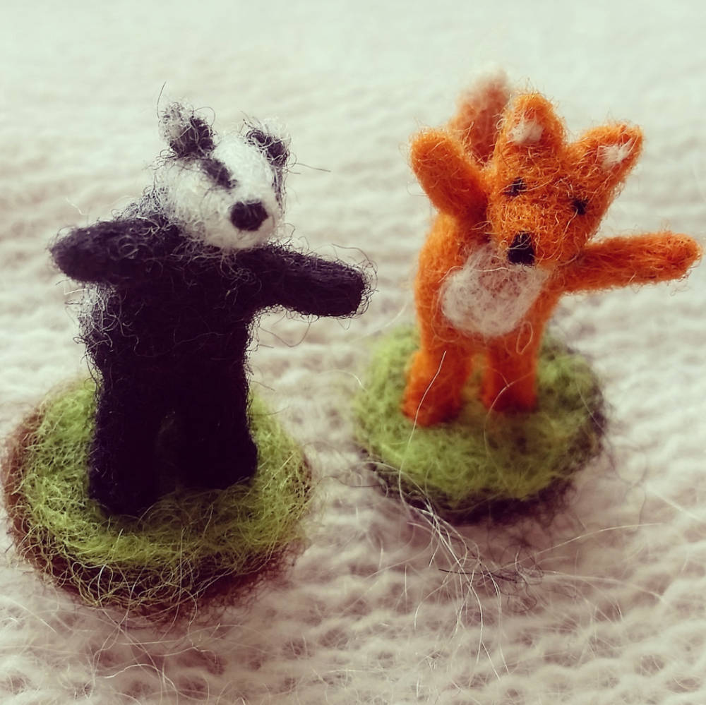 Fox and Badger for Glass Bottles