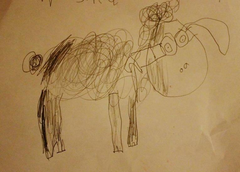 Original child's drawing