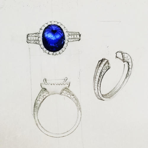 Blue sappire ring