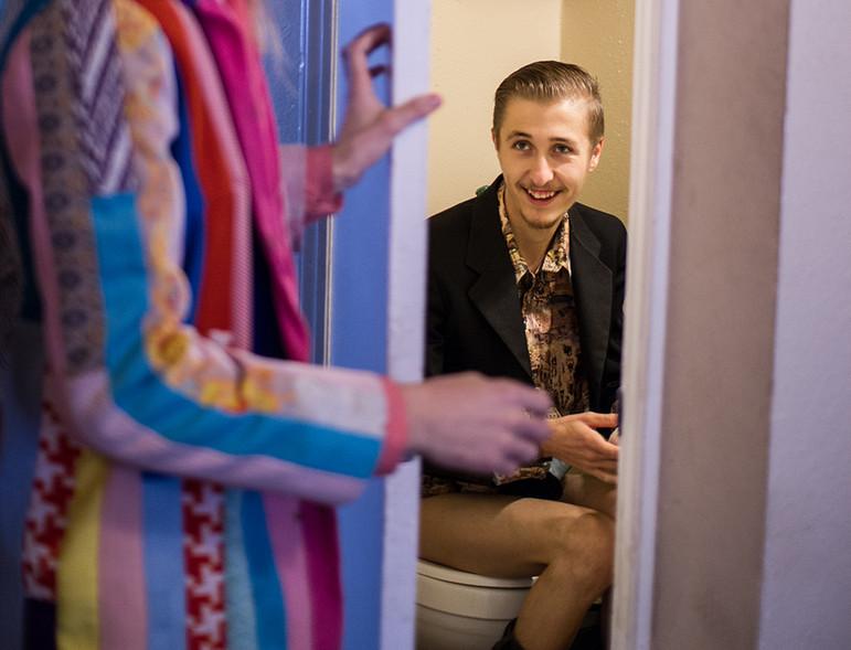 Cody in Bathroom