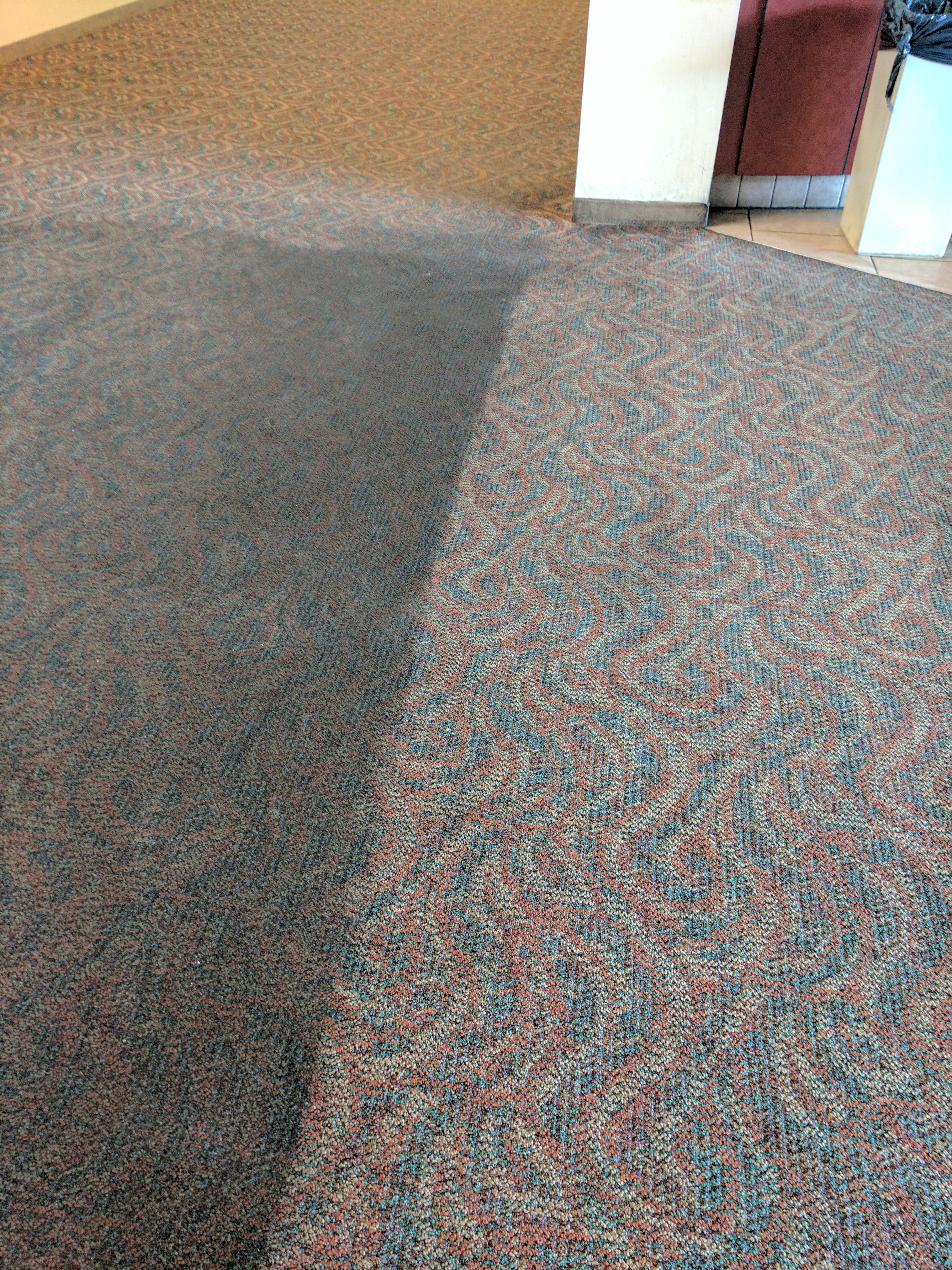 Commercial glue down carpet cleaning