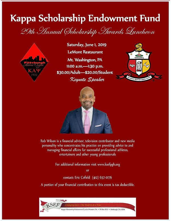 KSEF 2019 Luncheon Keynote Speaker flyer