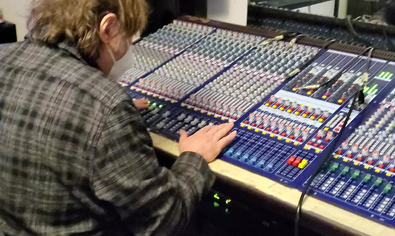 Hard at work in the Studio!