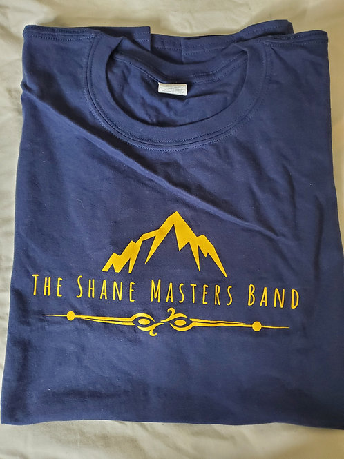 Navy Blue/Gold Lettering Shane Masters Band T-Shirt