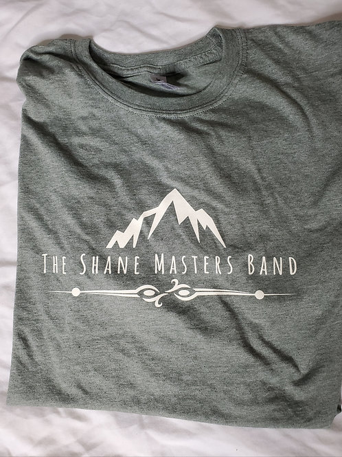Heather Army Green Shane Masters Band T-Shirt