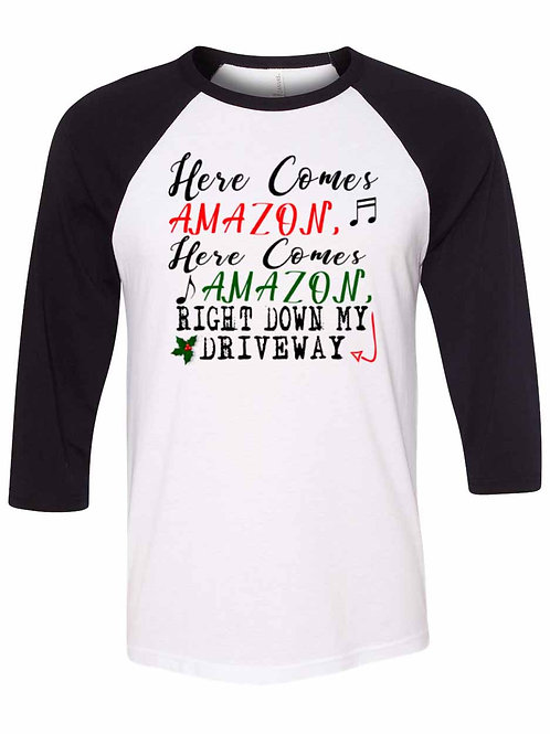Here Comes Red and Green Amazon Shirt - X018