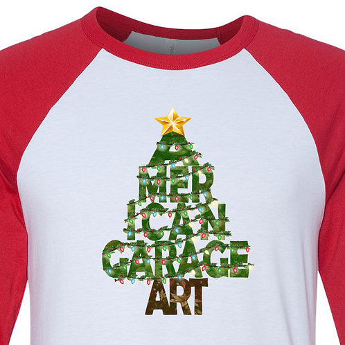 American Garage Art Christmas Tree Shirt x-020