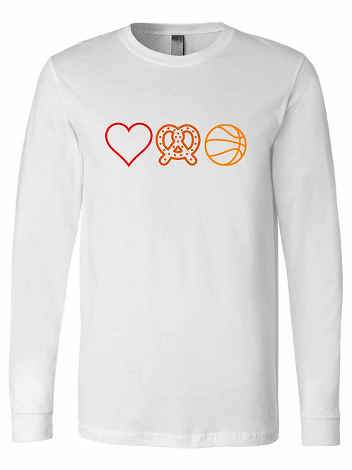 Love Pretzel Basketball Shirt S063