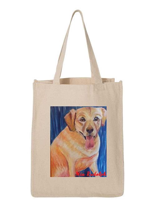 Gold Dog Bag - Art by Mia Rudolph D1-057