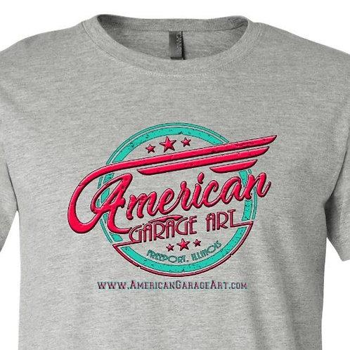 American Garage Art Pastel Logo Design AGA-02