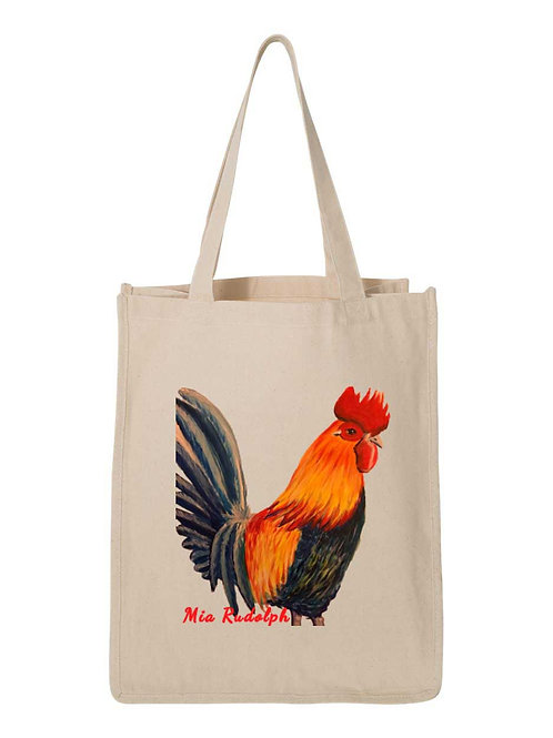 Rooster Bag - Art by Mia Rudolph D1-058