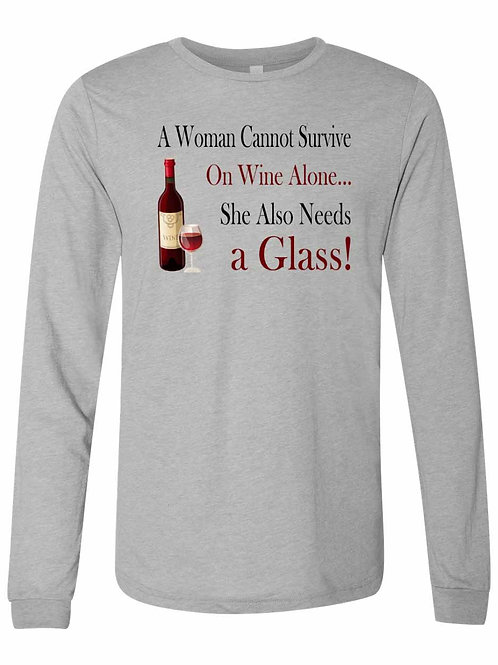 A Woman Can't Survive Without Wine and A Glass. D-051