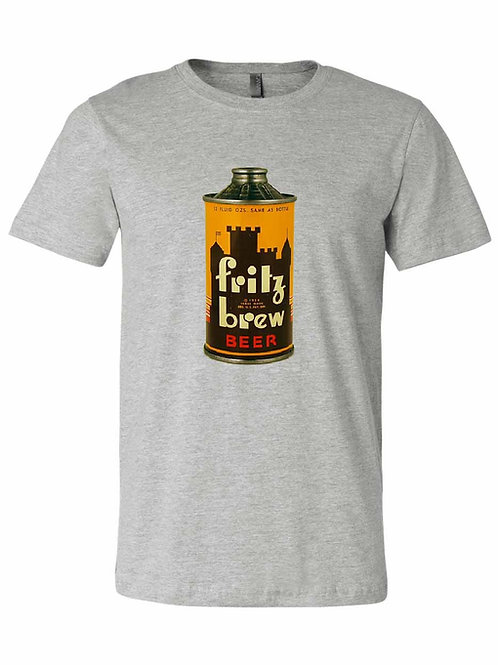 Fritz Brew Cone Top Beer Can Shirt - Freeport IL