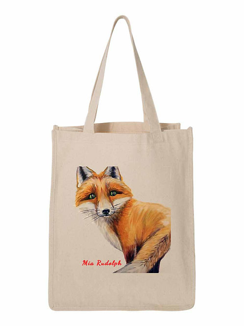 Fox Bag - art by Mia Rudolph D1-022