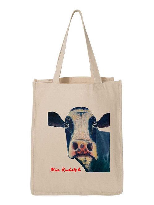 Holstein Cow Bag - Art by Mia Rudolph D1-062