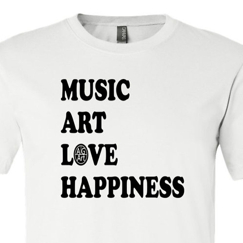 Music, Art, Love, Happiness Shirt - AgA-47
