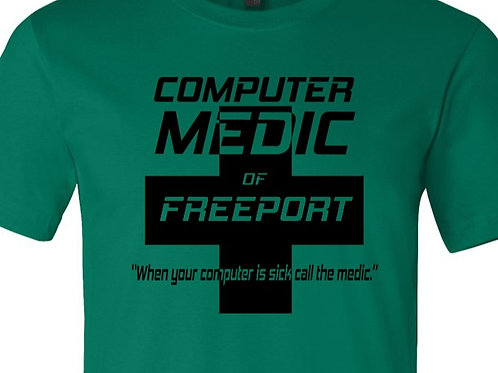 Computer Medic of Freeport Shirt - Bus-09