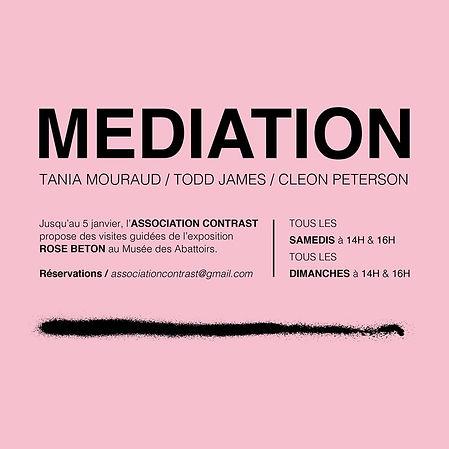Médiation exposition Rose Béton